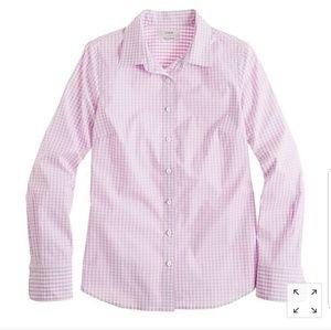 J. Crew stretch perfect shirt gingham